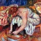 Woman Shoe Syndicate canvas art print by Pierre-Auguste Renoir