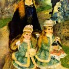 Walk park child canvas art print by Pierre-Auguste Renoir