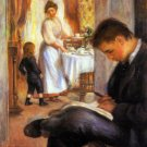 Breakfast at Berneval woman man girl child canvas art print by Pierre-Auguste Renoir