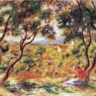 Vines at Cagnes landscape canvas art print by Pierre-Auguste Renoir