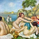 Three Bathing Girls with Crab waterscape landscape canvas art print by Pierre-Auguste Renoir