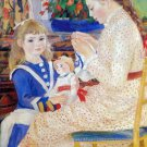 Children in the afternoon in Wargemont Detail woman canvas art print by Pierre-Auguste Renoir