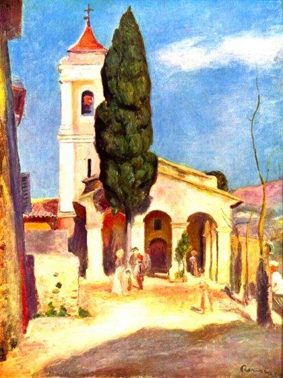 Church in Cagnes religious Christian Christ canvas art print Renoir