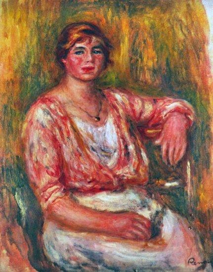 Dairymaid woman girl canvas art print by Pierre-Auguste Renoir
