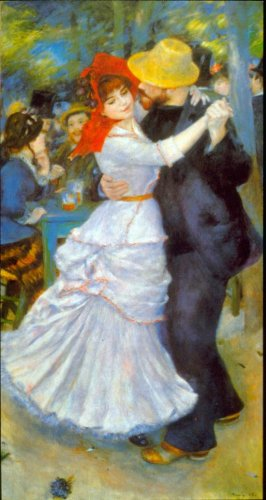 Dance at Bougival man woman people canvas art print by Pierre-Auguste Renoir
