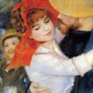 Dance at Bougival Detail men woman people canvas art print by Pierre-Auguste Renoir