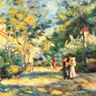 Figures in the Garden women people landscape park trees canvas art print by Pierre-Auguste Renoir
