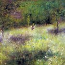 Spring at Chatou Fruhling in Chatou landscape child flower canvas art print by Pierre-Auguste Renoir