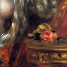 Gabrielle with Jewels Detail woman canvas art print by Pierre-Auguste Renoir