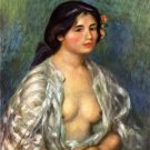 Gabrielle 1907 open blouse woman canvas art print Pierre-Auguste Renoir