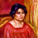 Gabrielle with Red Blouse woman portrait canvas art print by Pierre-Auguste Renoir