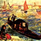 Gondola on the Grand Canal Venecia Canal Grande cityscape canvas art print by Pierre-Auguste Renoir