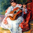 Guitarist woman guitar player canvas art print by Pierre-Auguste Renoir