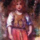 Gypsy girl flowers child canvas art print by Pierre-Auguste Renoir
