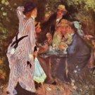 In The Park Garden In The Bower of Moulin De La Galette canvas art print by Pierre-Auguste Renoir