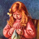 Jean Renoir Sewing painter's Son boy child canvas art print by Pierre-Auguste Renoir