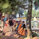 La Grenouillere II 1869 detail water landscape people boats canvas art print Pierre-Auguste Renoir