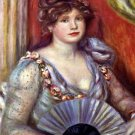 Lady with Fan 1908 woman canvas art print by Pierre-Auguste Renoir