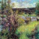 The Seine at Chatou river water landscape canvas art print by Pierre-Auguste Renoir