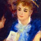 The Perusal of the Part woman portrait canvas art print by Pierre-Auguste Renoir