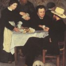 At the Inn of Mother Anthony men woman dog canvas art print by Renoir