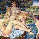 The Bathers 1887 women river waterscape landscape canvas art print by Pierre-Auguste Renoir