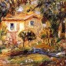 Landscape 1902 trees country house landscape canvas art print by Pierre-Auguste Renoir