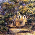 The Farm at Les Collettes landscape canvas art print by Pierre-Auguste Renoir