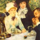 The End of the Breakfast man women genre canvas art print by Pierre-Auguste Renoir