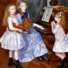 The daughters of Catulle Mendes girls children canvas art print by Pierre-Auguste Renoir