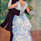 The dance in the city couple genre canvas art print by Pierre-Auguste Renoir