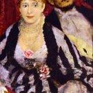 The Box man woman portrait canvas art print by Pierre-Auguste Renoir