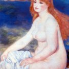 The Blond Bather II blonde woman canvas art print by Pierre-Auguste Renoir