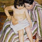 The Bath mother and child woman and girl canvas art print by Pierre-Auguste Renoir