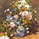 Still Life Large Vase flowers canvas art print Pierre-Auguste Renoir