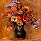 Still Life with Anemones flowers canvas art print by Renoir