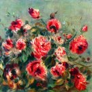 Still Life Roses of Vargemont flowers canvas art print by Renoir