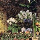 Spring flowers garden landscape canvas art print by Pierre-Auguste Renoir