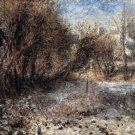 Snowy Landscape 1875 winter snow trees forest country canvas art print by Pierre-Auguste Renoir