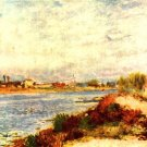 Seine in Argenteuil river water landscape canvas art print by Pierre-Auguste Renoir