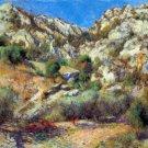 Rocks at Estage L'Estage landscape canvas art print by Pierre-Auguste Renoir
