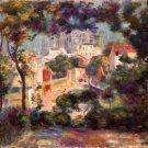 Landscape with a view of the Sacred Heart 1900 Coeur building canvas art print Pierre-Auguste Renoir