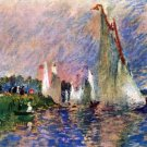 Regatta in Argenteuil water landscape canvas art print by Pierre-Auguste Renoir