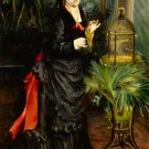 Woman with Parrot 1871 portrait bird canvas art print by Pierre-Auguste Renoir