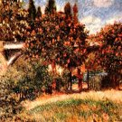 Railway bridge of Chatou landscape canvas art print by Pierre-Auguste Renoir