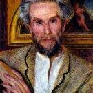 Portrait of Victor Chocquet 1875 man canvas art print by Pierre-Auguste Renoir