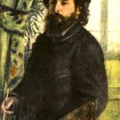 Portrait of the Painter Claude Monet 1875 man canvas art print by Pierre-Auguste Renoir