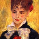 Portrait of Madame Mme Iscovesco 1877 a Romanian woman canvas art print by Pierre-Auguste Renoir
