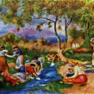 Laundresses women river water landscape canvas art print by Pierre-Auguste Renoir