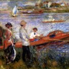 Oarsman or Rowers at Chatou river water landscape people canvas art print by Pierre-Auguste Renoir
